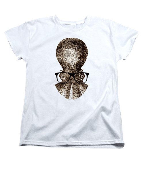 Octopus Head Women's T-Shirt (Standard Cut) by Frank Tschakert