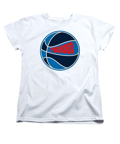 Women's T-Shirt (Standard Cut) featuring the photograph Oklahoma City Thunder Retro Shirt by Joe Hamilton