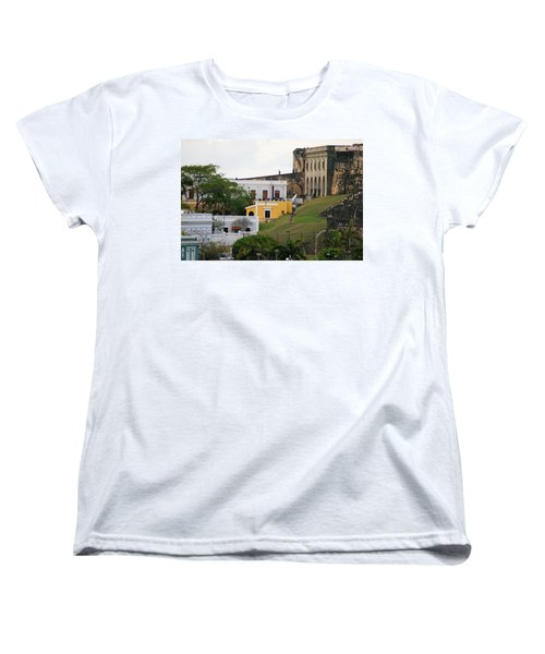 Women's T-Shirt (Standard Cut) featuring the photograph Old And New by Lois Lepisto