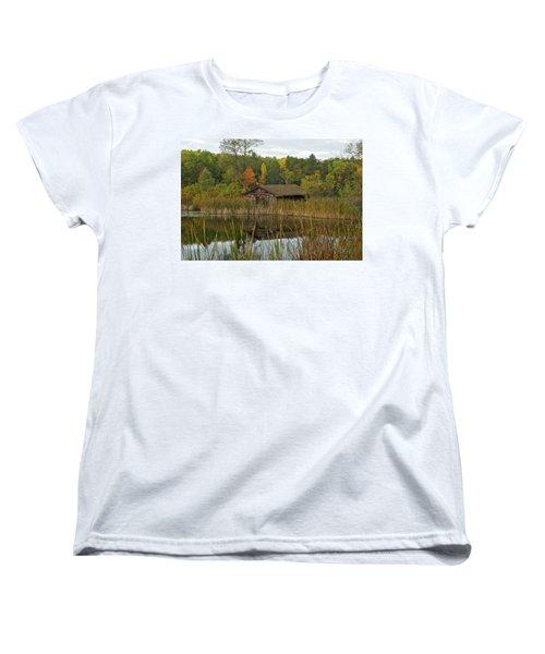 Old Bait Shop On Twin Lake_9626 Women's T-Shirt (Standard Cut) by Michael Peychich