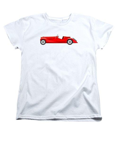 Women's T-Shirt (Standard Cut) featuring the digital art Old Classic Race Car by Michal Boubin