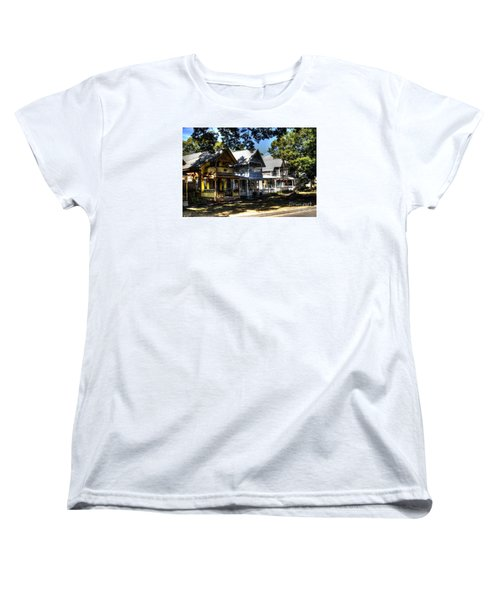 Women's T-Shirt (Standard Cut) featuring the photograph Old Homes Martha's Vineyard by Donald Williams