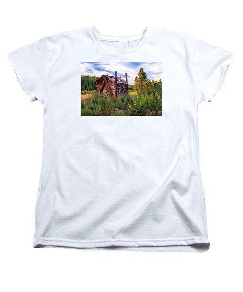Old Lumber Mill Cabin Women's T-Shirt (Standard Cut) by James Eddy