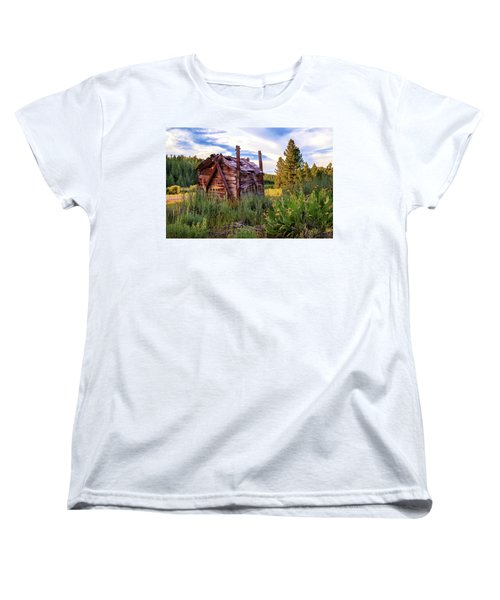 Old Lumber Mill Cabin Women's T-Shirt (Standard Cut)