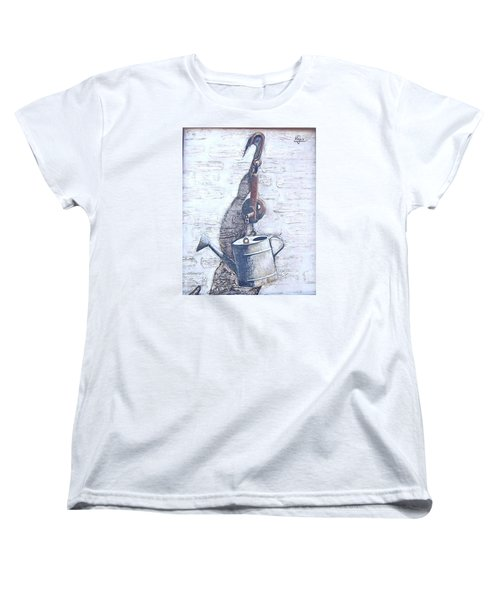 Women's T-Shirt (Standard Cut) featuring the painting Old Metal by Natalia Tejera