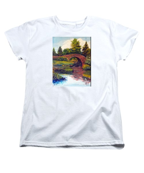 Old Red Stone Bridge Women's T-Shirt (Standard Cut) by Jim Phillips
