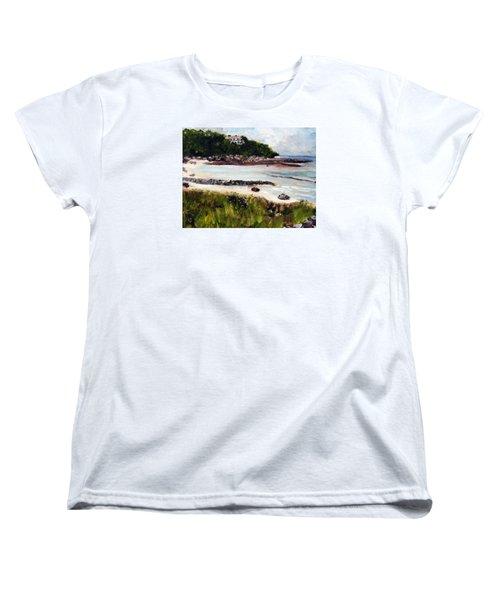 Old Silver Beach Falmouth Women's T-Shirt (Standard Cut) by Michael Helfen
