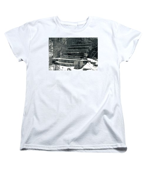 Old Stairs To Nowhere Women's T-Shirt (Standard Cut) by Jeff Severson