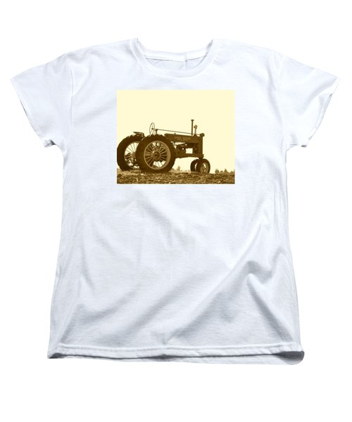 Old Tractor IIi In Sepia Women's T-Shirt (Standard Cut) by JD Grimes