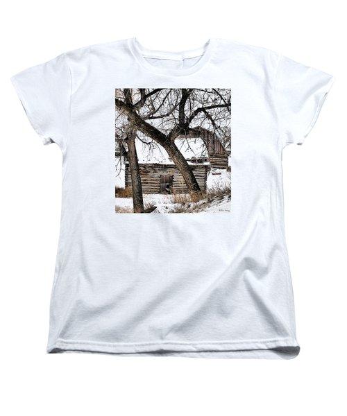 Old Ulm Barn Women's T-Shirt (Standard Cut) by Susan Kinney