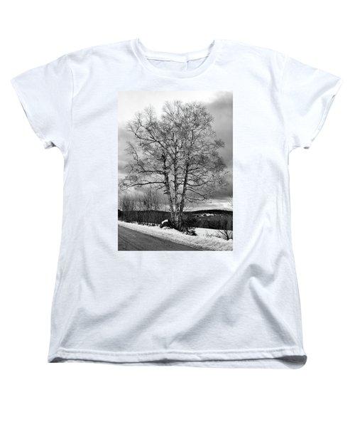 Old White Birch Women's T-Shirt (Standard Cut) by Betty Pauwels