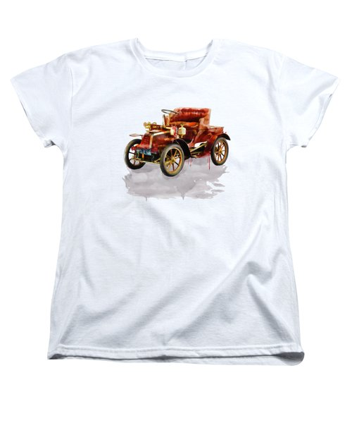 Oldtimer Car Watercolor Women's T-Shirt (Standard Fit)