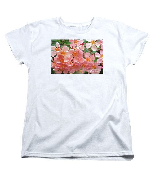 Women's T-Shirt (Standard Cut) featuring the photograph Oleander Dr. Ragioneri 5 by Wilhelm Hufnagl
