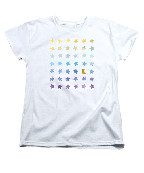 Ombre Cosmos Women's T-Shirt (Standard Cut) by Whitney Morton