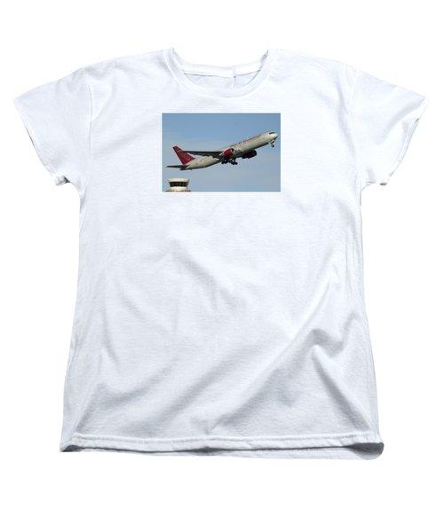 Omni Air International Boeing 767-319 N396ax Phoenix Sky Harbor January 2 2015 Women's T-Shirt (Standard Cut) by Brian Lockett