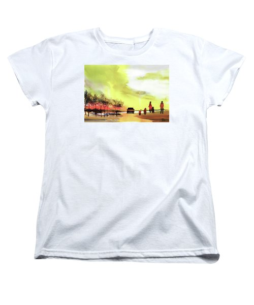 Women's T-Shirt (Standard Cut) featuring the painting On Vacation by Anil Nene