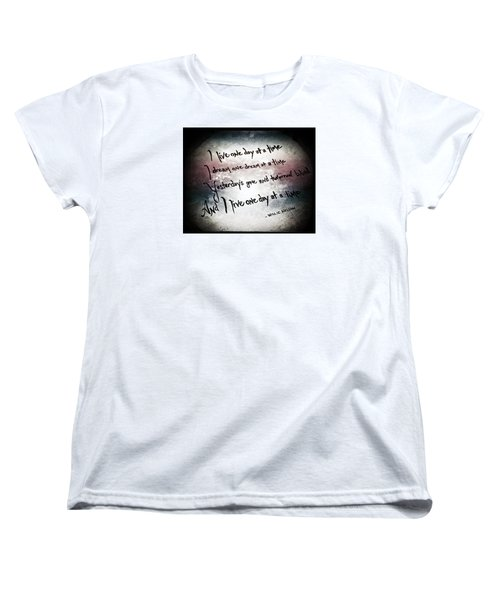 Women's T-Shirt (Standard Cut) featuring the photograph One Day.... by Trish Mistric