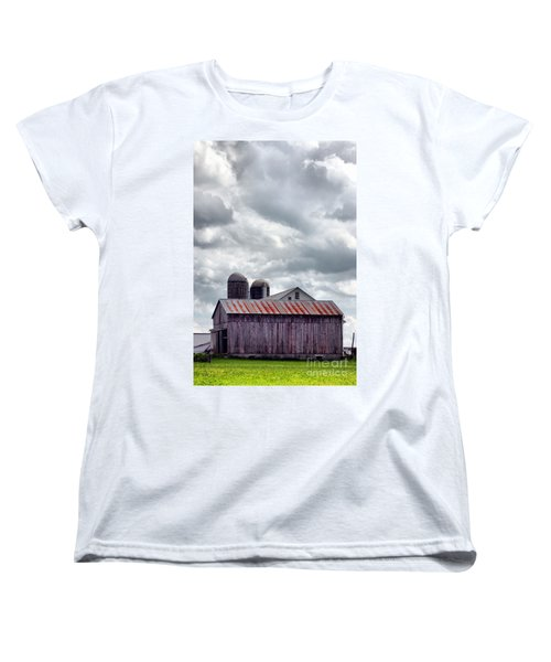 Women's T-Shirt (Standard Cut) featuring the photograph One Fine Cloudy Day  by Polly Peacock