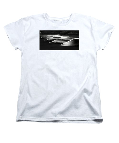 Women's T-Shirt (Standard Cut) featuring the photograph One Step At A Time by Eduard Moldoveanu