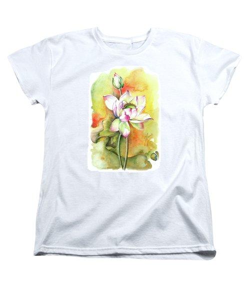 Women's T-Shirt (Standard Cut) featuring the painting One Sunny Day by Anna Ewa Miarczynska