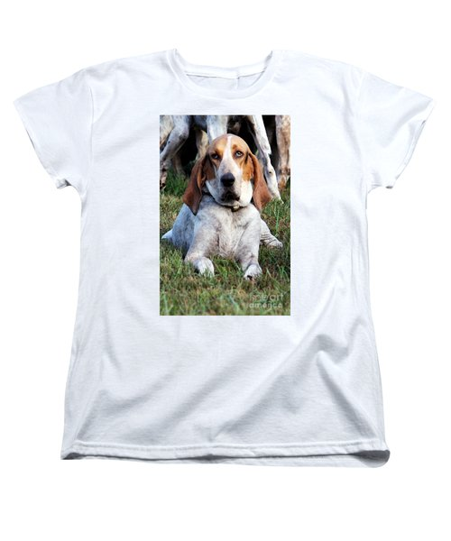Women's T-Shirt (Standard Cut) featuring the photograph One Tired Hound by Polly Peacock