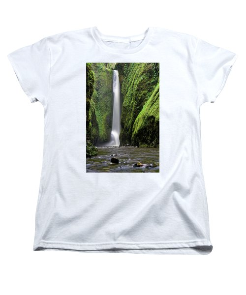 Women's T-Shirt (Standard Cut) featuring the photograph Oneonta Portrait by Jonathan Davison