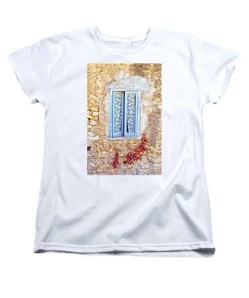 Onions And Garlic On Window Women's T-Shirt (Standard Cut) by Silvia Ganora