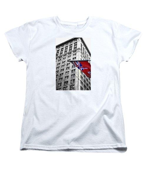 Ontario Flag Women's T-Shirt (Standard Cut) by Valentino Visentini