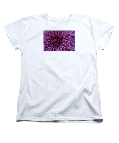 Women's T-Shirt (Standard Cut) featuring the photograph Purple Mum by Glenn Gordon