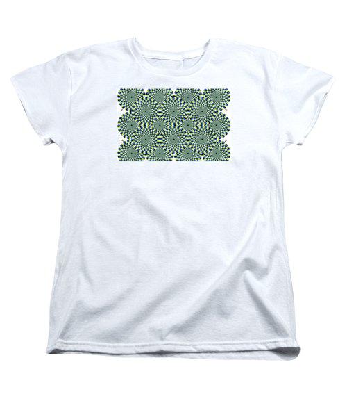 Optical Illusion Spinning Circles Women's T-Shirt (Standard Cut) by Sumit Mehndiratta