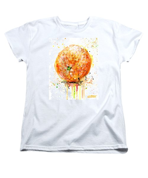 Orange 1 Women's T-Shirt (Standard Cut) by Arleana Holtzmann