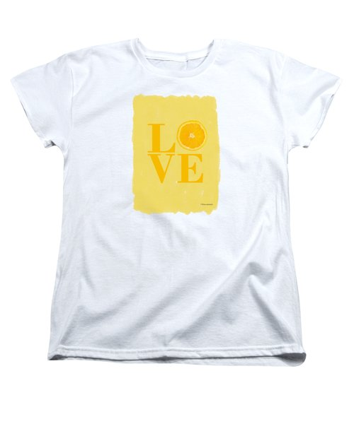 Orange Women's T-Shirt (Standard Cut)