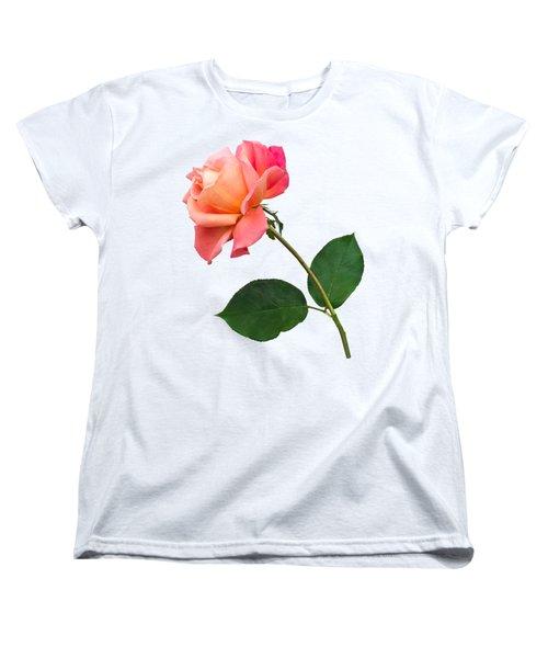 Orange Rose Specimen Women's T-Shirt (Standard Cut) by Jane McIlroy