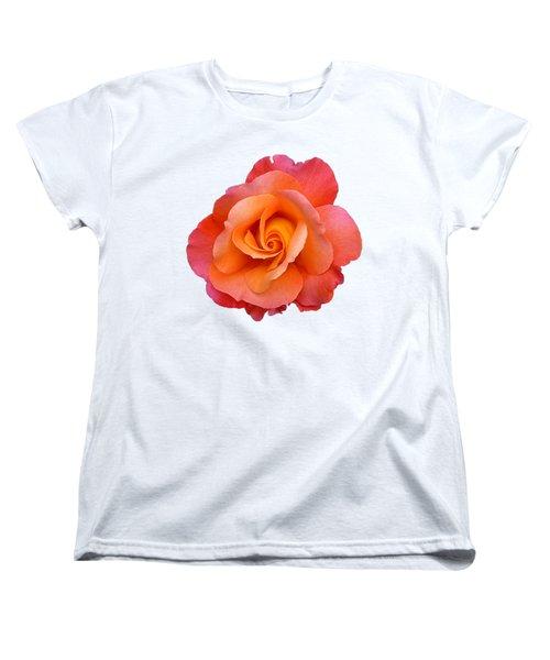 Orange Rosebud Highlight Women's T-Shirt (Standard Fit)
