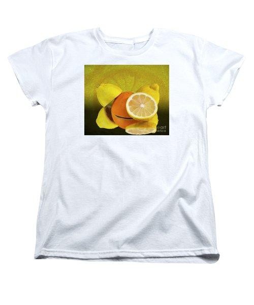 Oranges And Lemons Women's T-Shirt (Standard Cut) by Shirley Mangini