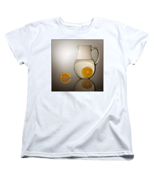 Women's T-Shirt (Standard Cut) featuring the photograph Oranges And Water Pitcher by Joe Bonita