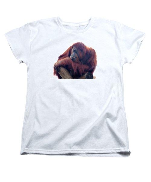 Orangutan - Color Version Women's T-Shirt (Standard Cut) by Lana Trussell