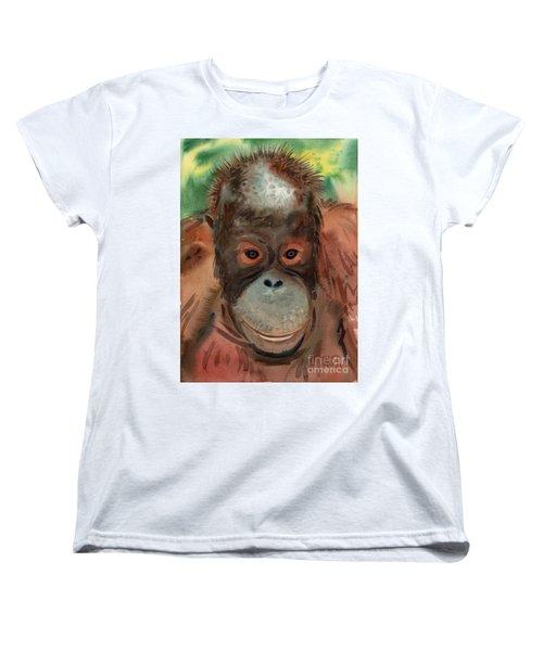 Orangutan Women's T-Shirt (Standard Cut) by Donald Maier