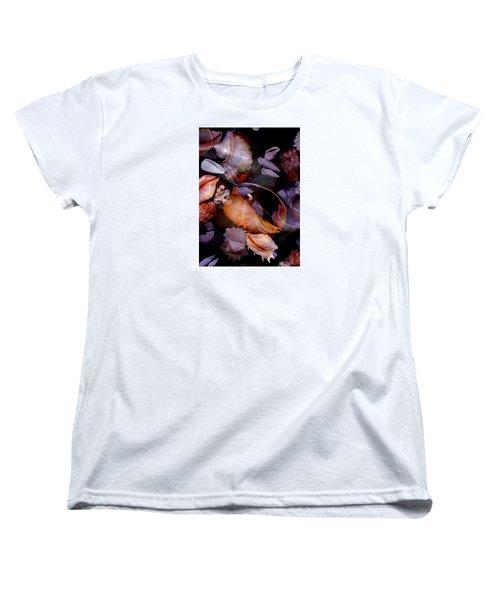 Orbiting Seashells Women's T-Shirt (Standard Cut) by Lynda Lehmann
