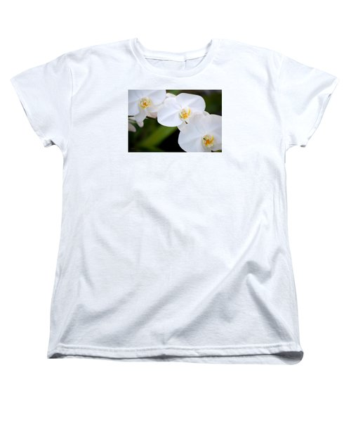 Orchid Flow Women's T-Shirt (Standard Cut) by Deborah  Crew-Johnson