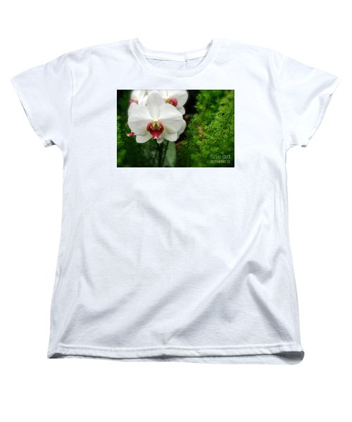 Women's T-Shirt (Standard Cut) featuring the photograph Orchid White by Brian Jones