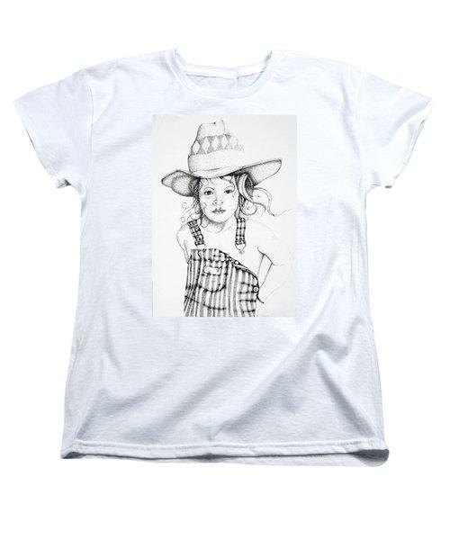 Women's T-Shirt (Standard Cut) featuring the drawing Osh Kosh by Mayhem Mediums