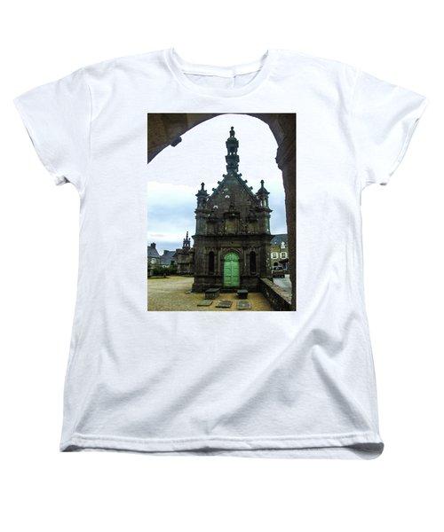 Ossuary Of St Thegonnec Women's T-Shirt (Standard Cut) by Helen Northcott