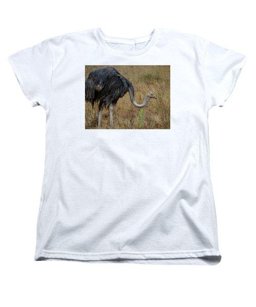Ostrich In The Grass 2 Women's T-Shirt (Standard Fit)