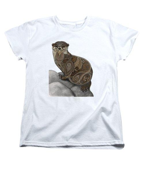 Otter Tangle Women's T-Shirt (Standard Cut) by ZH Field