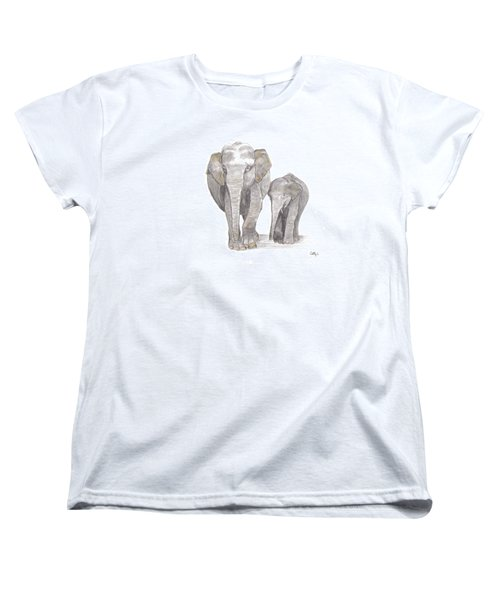 Out For  A Stroll Women's T-Shirt (Standard Cut) by Catherine Swerediuk