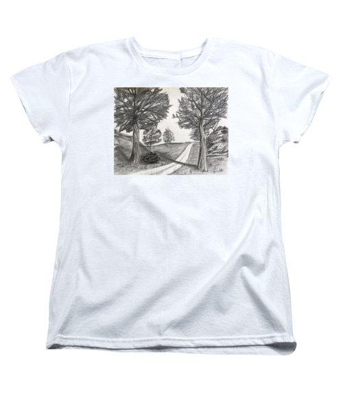 Out For A Walk Women's T-Shirt (Standard Cut)
