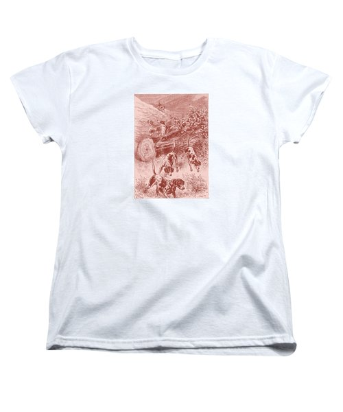Out Foxing Women's T-Shirt (Standard Cut) by David Davies