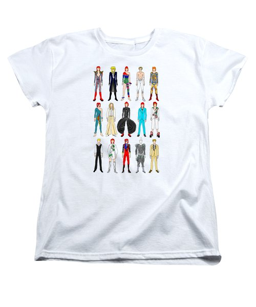 Outfits Of Bowie Women's T-Shirt (Standard Cut) by Notsniw Art
