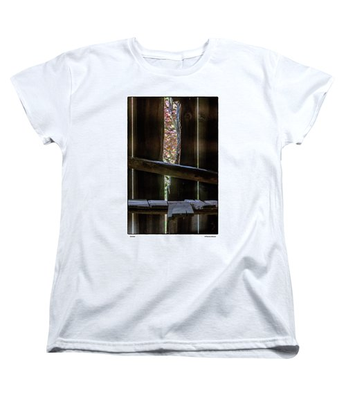 Women's T-Shirt (Standard Cut) featuring the photograph Outside by R Thomas Berner